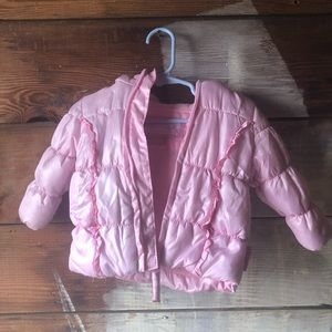 Weatherproof Baby Puffer Coat Pastel Pink 3-6 M